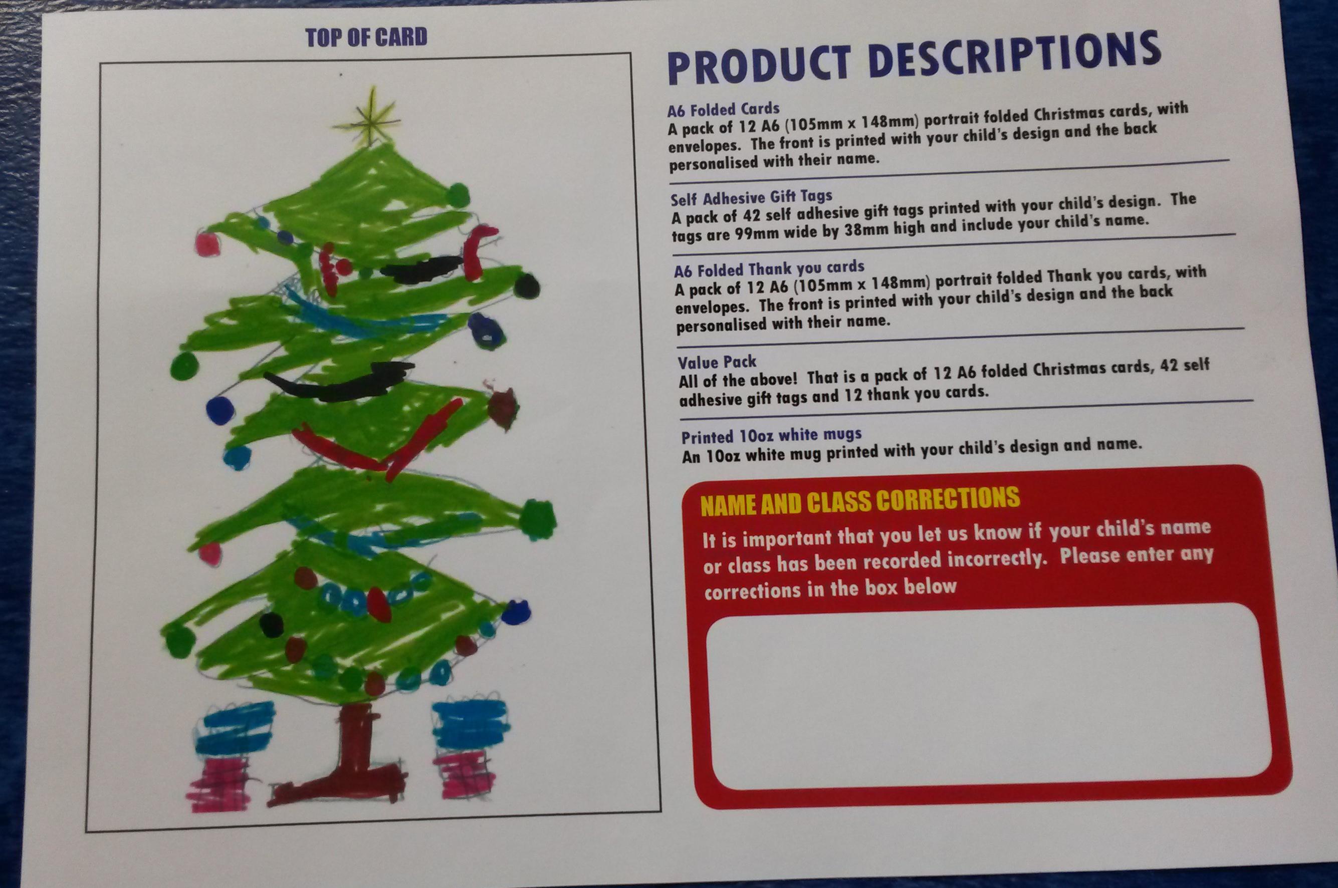 LPSA Christmas Cards – FINAL ORDERS please! – Liberton Primary School